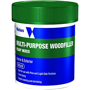 Wickes Multi-Purpose Wood Filler Tub - Natural 250g