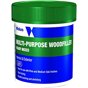Wickes Multi-Purpose Wood Filler Tub - Light 250g