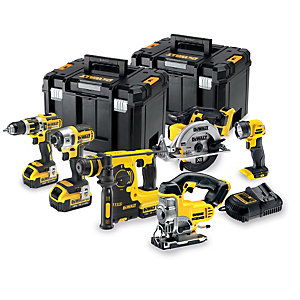 DEWALT DCK699M3T-GB 18V 4.0Ah Xr Brushless Cordless 6 Piece Power Tool Set