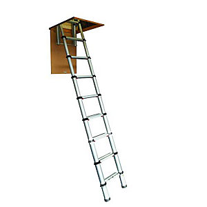 Youngman Telescopic Aluminium Loft Ladder - Max Height 2.61m