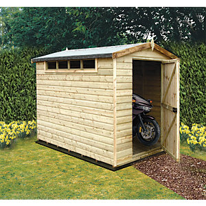 Shire 8 x 6ft Security Timber Apex Shed