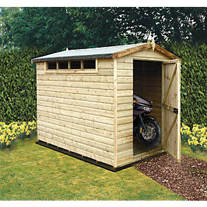 Shire Security Timber Apex Shed with High Level Window- 6 x 10 ft