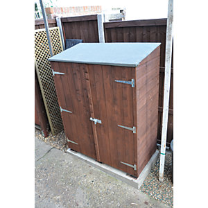Shire 4 x 2ft Shiplap Timber Garden Store Shed