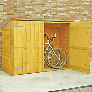 Shire 6 x 2ft Shiplap Timber Bike Store Shed