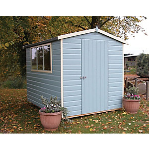 Shire 6 x 8ft Easy Assembly Timber Shiplap Apex Shed