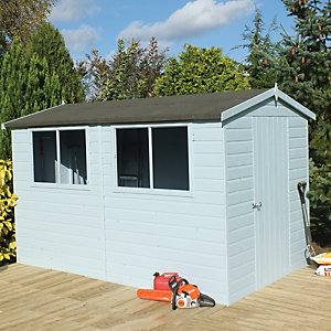 Shire 8 x 10ft Easy Assembly Timber Shiplap Apex Shed
