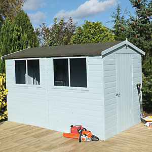 Shire 10 x 10ft Easy Assembly Timber Shiplap Apex Shed
