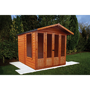 Shire Parham Double Door Summerhouse - 7 x 7 ft