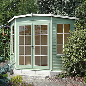 Shire Hampton Double Door Corner Summerhouse - 7 x 7 ft