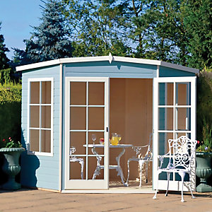 Shire Hampton Double Door Corner Summerhouse - 8 x 8 ft