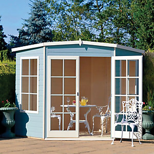 Shire Hampton Double Door Corner Summerhouse - 10 x 10 ft