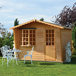 Shire Goodwood Summerhouse with Bay Window - 10 x 8 ft
