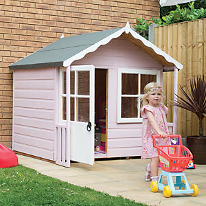 Shire 5 x 4ft Kitty Wooden Playhouse with Acrylic Safety Glazing