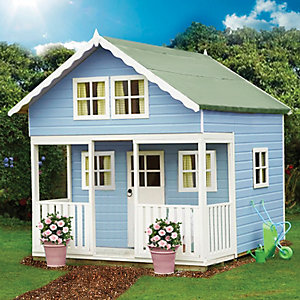 Shire 8 x 9ft Lodge & Bunk Large Wooden Playhouse with Veranda
