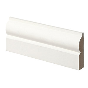 Wickes Torus Primed MDF Architrave - 14.5mm x 57mm x 2.1m Pack of 5