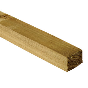 Wickes Treated Sawn Timber - 47mm x 47mm x 3m