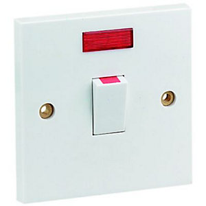 Wickes Control Cooker Switch with Neon Indicator - Polished
