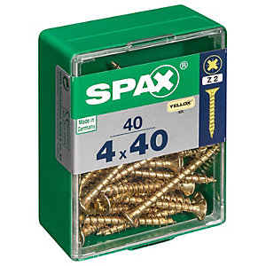 Spax PZ Countersunk Zinc Yellow Screws - 4 x 40mm Pack of 40