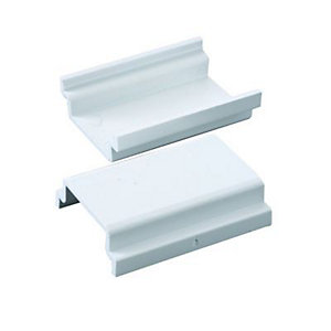 Wickes Mini Trunking Coupler - White 38 x 16mm Pack of 2