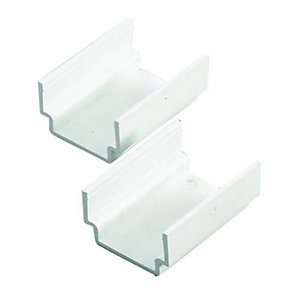 Wickes Mini Trunking Coupler - White 38 x 25mm Pack of 2