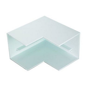 Wickes Maxi Trunking Outside Angle - White 50 x 50mm Pack of 2