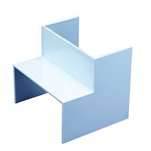 Wickes Maxi Trunking Inside Angle - White 100 x 50mm Pack of 2