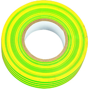 Wickes Electrical Insulation Tape - Green & Yellow 20m Pack of 10