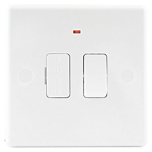Wickes Fuse Spur Switch with Neon Slimline White