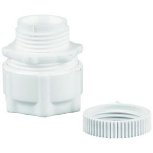 Wickes Corrugated Conduit Adaptor - White 20mm Pack of 2