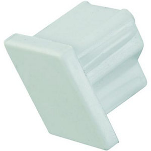 Wickes Mini Trunking End Cap - White 16 x 16mm Pack of 5