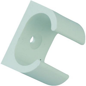 Wickes Oval Conduit Clip - White 16mm Pack of 5