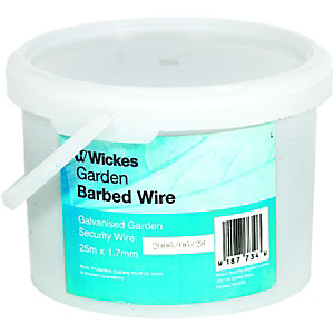 Wickes Galvanised Garden Barbed Wire - 1.7mm x 25m