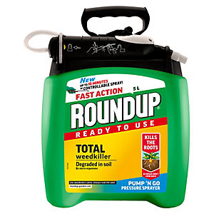 Image of Roundup Fast Action Ready to Use Weed Killer - 5L