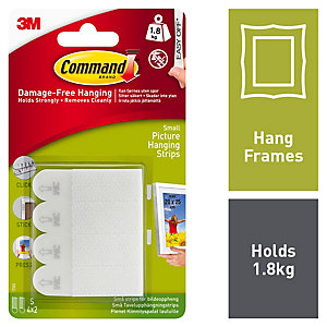 Command White Small Picture Hanging Strips - 4 Pairs