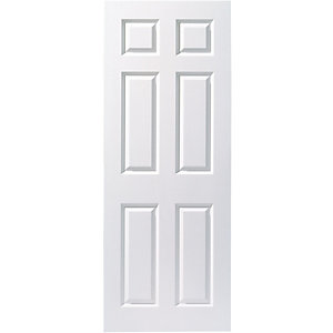 Wickes Woburn White Smoooth Moulded 6 Panel Internal Fire Door - 1981mm x 838mm