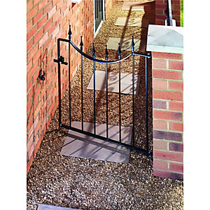 Wickes Windsor Steel Gate Black - 914 x 925 mm