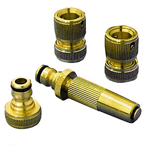 Wickes Brass Garden Hose Pipe Set