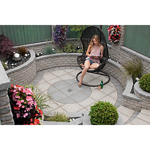Marshalls Argent Smooth Dark Grey Paving Slab 600 x 600 x 38 mm - 9m2 pack