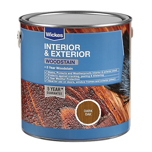 Wickes Woodstain - Dark Oak 750ml