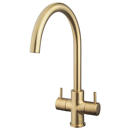 Kumai Monobloc Brushed Gold Tap Hp/lp