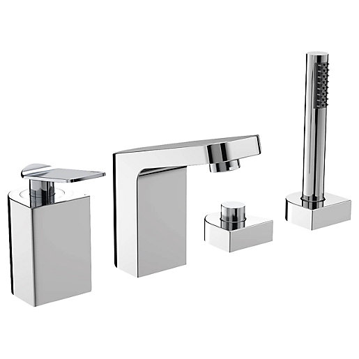Bristan Alp 4 Hole Deck Bath Shower Mixer