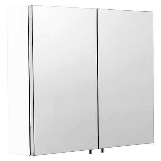 Croydex Dawley Folded White Steel Double Cabinet -