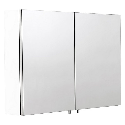 Croydex Folded White Steel Double Bathroom Cabinet -