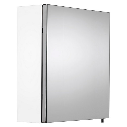 Croydex Folded White Steel Single Door Bathroom Cabinet