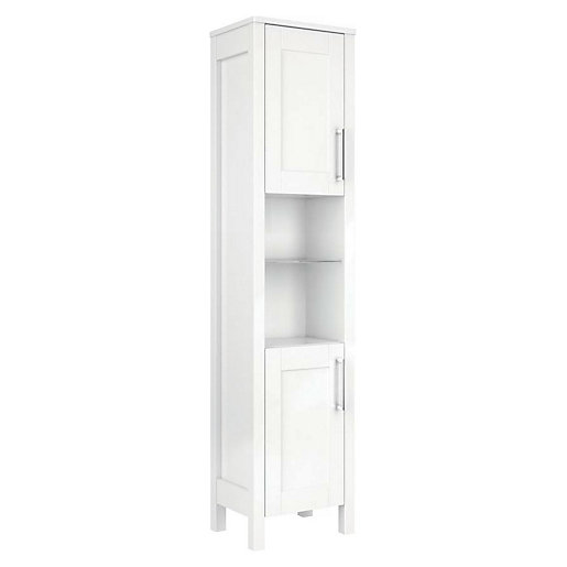 Wickes Frontera White Traditional Freestanding Tower Unit -