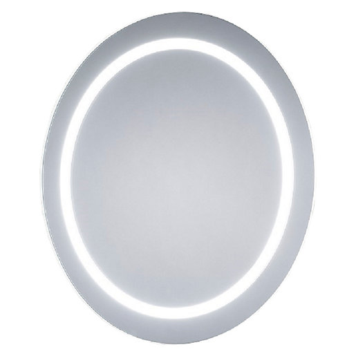 Wickes Melville Round Diffused LED Bathroom Mirror