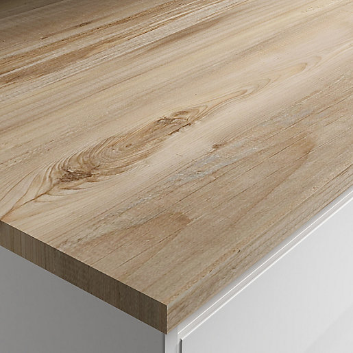 Wickes Mississippi Pine Laminate Bathroom Worktop - 2m
