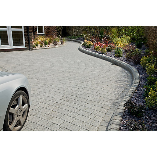Marshalls Argent Driveway Block Paving Pack Mixed Size