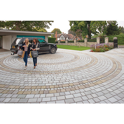 Marshalls Fairstone Natural Stone Set Driveway Block Paving