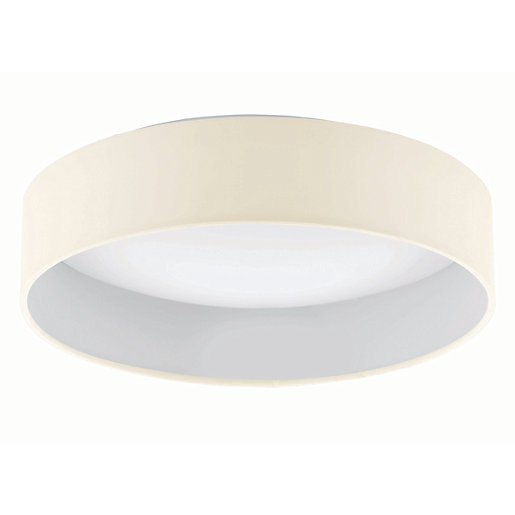 Eglo Palomaro LED Cream & White Fabric Finish